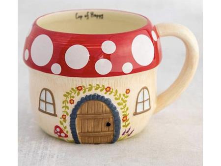 Natural Life Folk Mug Mushroom House