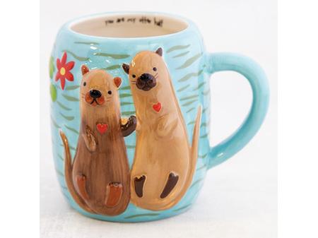 Natural Life Folk Mug Otter Half