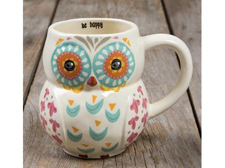 Natural Life Folk Mug - Owl Be Happy