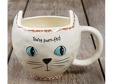 Natural Life Folk Mug Purrfect Cat Cream
