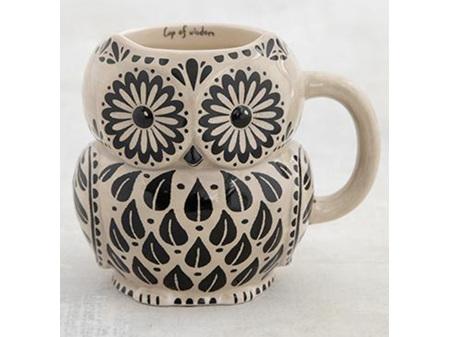 Natural Life Folk Mug Wisdom Owl