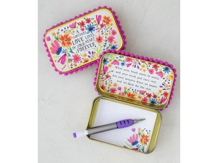 Natural Life Gold Tin Prayer Box A Mother's Love