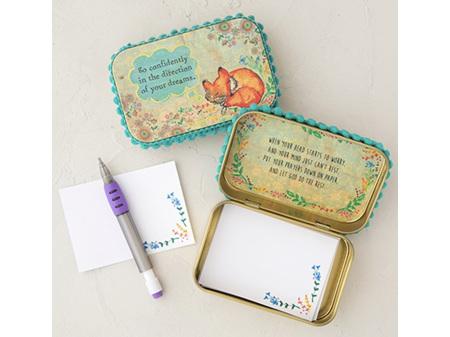 Natural Life Gold Tin Prayerbox Go Confidently