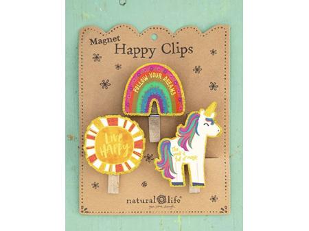 Natural Life Happy Clips Set 3 Magic Unicorn