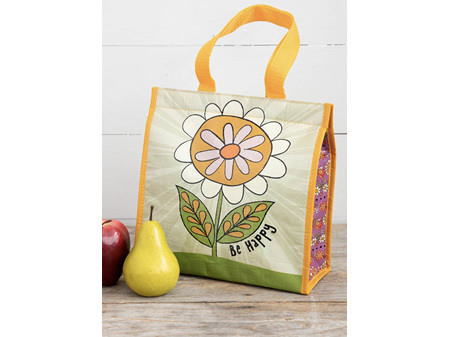 Natural Life Insulated Lunch Bag Be Happy