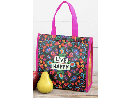 Natural Life Insulated Lunch Bag Live Happy