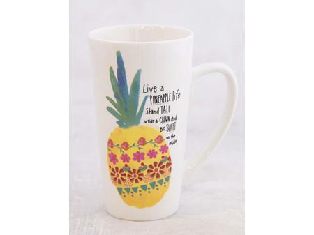 Natural Life Latte Mug Pineapple Life