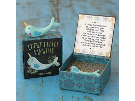 Natural Life Lucky Charm in Box Narwhal