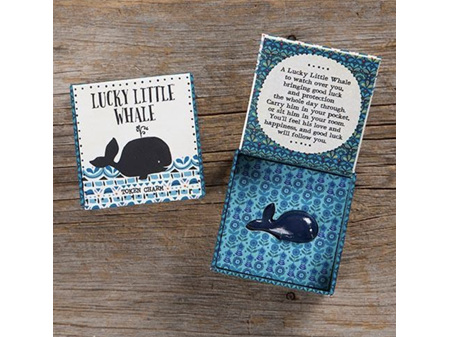 Natural Life Lucky Charm in Box Whale