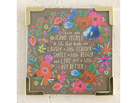 Natural Life Magnet with Metal Corners - Some People Laugh Louder