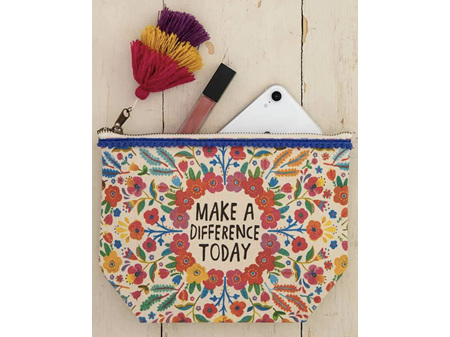Natural Life Make a Difference Today Canvas Pouch