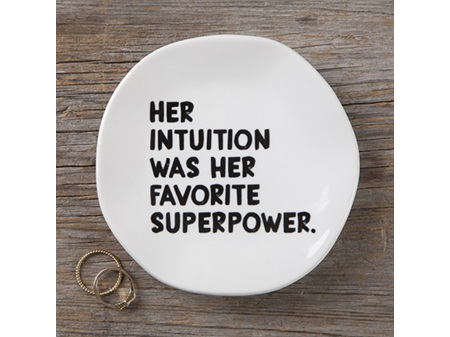 Natural Life Mantra Trinket Dish Plate Her Intuition