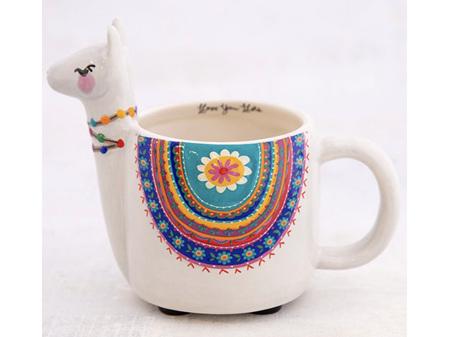 Natural Life Mug Grey Llama Llove you Llots