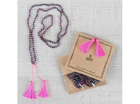 Natural Life Necklace - Be Happy 67cm