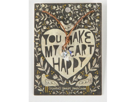 Natural Life Necklace Crystal Heart U Make My
