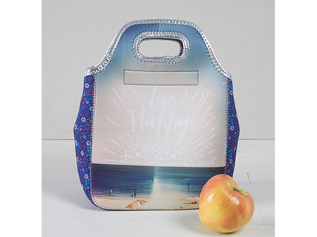 Natural Life Neoprene Lunch Bag Live Happy