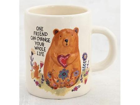 Natural Life One Friend Change Bear Mug