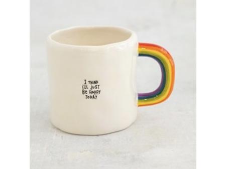 Natural Life Rainbow Mug I'll Just Be Happy