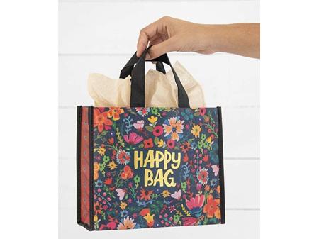 Natural Life Recycle Dark Teal & Gold Floral Happy Bag