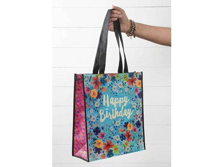 Natural Life Recycle Gift Bag Happy Birthday