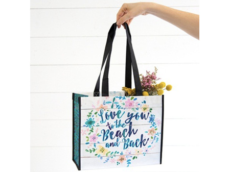 Natural Life Recycle Gift Bag Love You Beach