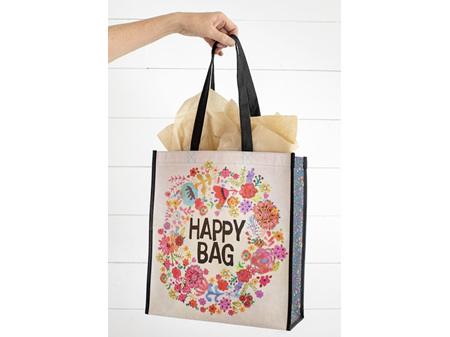 Natural Life Recycle Happy Bag Whimsy Floral Wreath Large