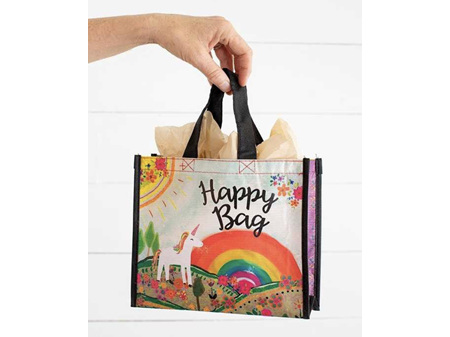 Natural Life Recycle Happy Gift Bag Unicorn