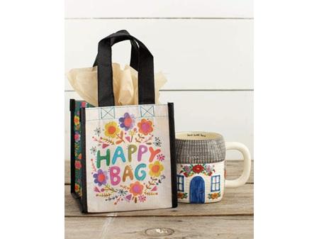 Natural Life Recycled Gift Bag Happy Bag