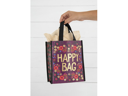Natural Life Recycled Gift Bag Happy Bag Small