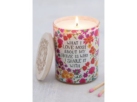 Natural Life Soy Candle - Love about my Home