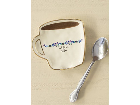 Natural Life Spoon Rest - But First Coffee