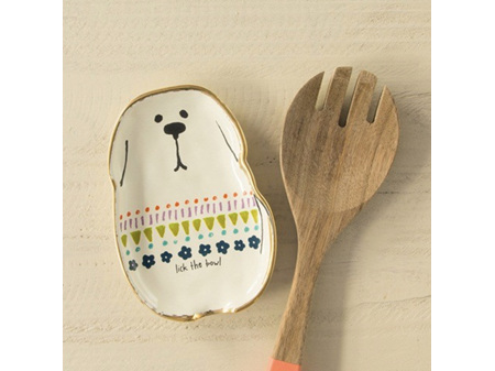 Natural Life Spoon Rest - Dog - Lick the Bowl