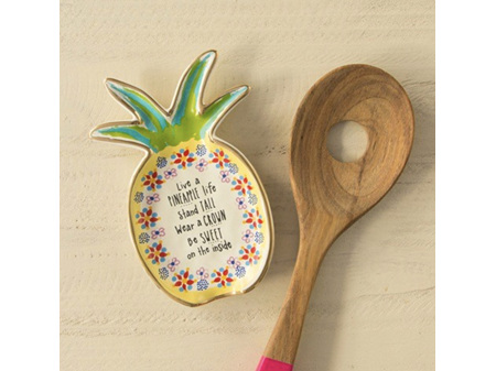 Natural Life Spoon Rest Pineapple Life