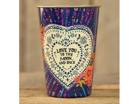 Natural Life Stainless Steel Cup Love You to the Moon