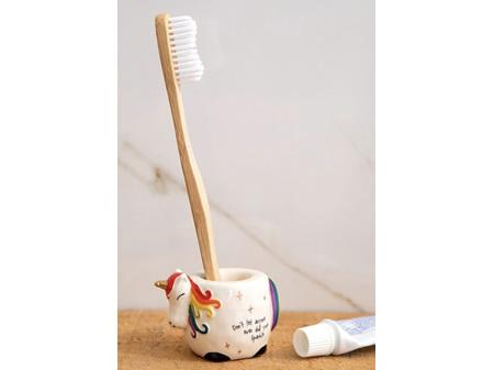 Natural Life Toothbrush Holder Unicorn