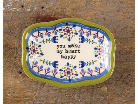 Natural Life Trinket Dish Heart Happy
