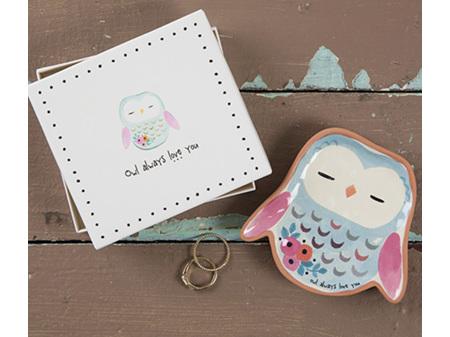 Natural Life Trinket Dish Owl Always Love You