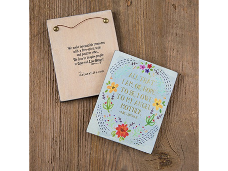 Natural Life Wall Plaque All that I Am - Angel Mother