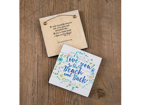 Natural Life Wall Plaque Love You to the Beach
