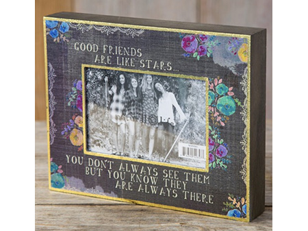 Natural Life Wooden Photo Frame - Friends are like Stars