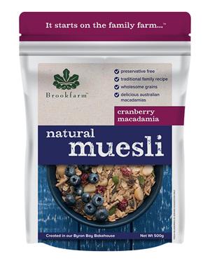 Natural Macadamia Muesli with Cranberry - 500g