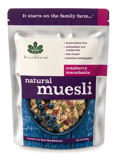 Natural Macadamia Muesli with Cranberry - 500g