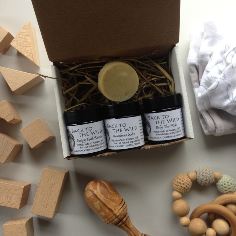 natural organic baby gift box nz handmade practical zero waste chch