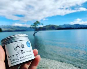 natural spf 50+ zero waste sunscreen glass jar returnable