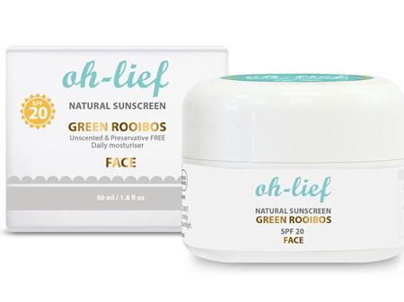 Natural Sunscreen SPF20 (face)