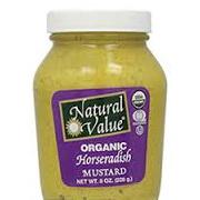 Natural Value Organic Mustard Horseradish 255g