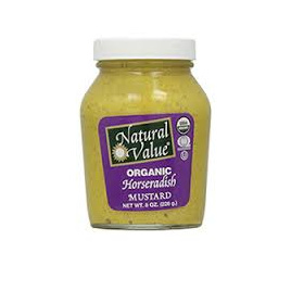 Natural Value Organic Mustard Horseradish 255g