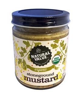 Natural Value Organic Mustard Stoneground 255g