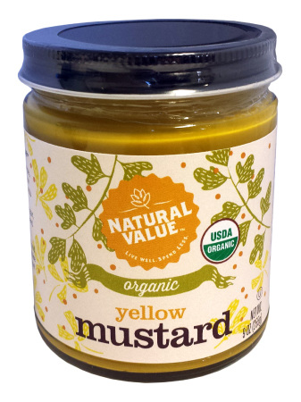 Natural Value Organic Mustard Yellow 255g