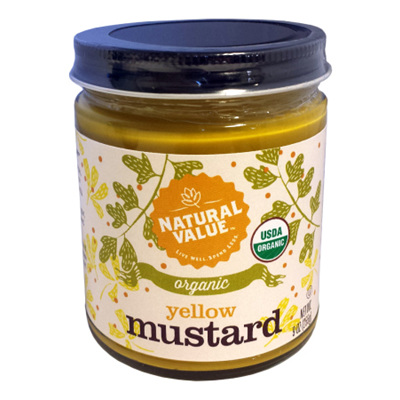 Natural Value Organic Mustard Yellow 255g
